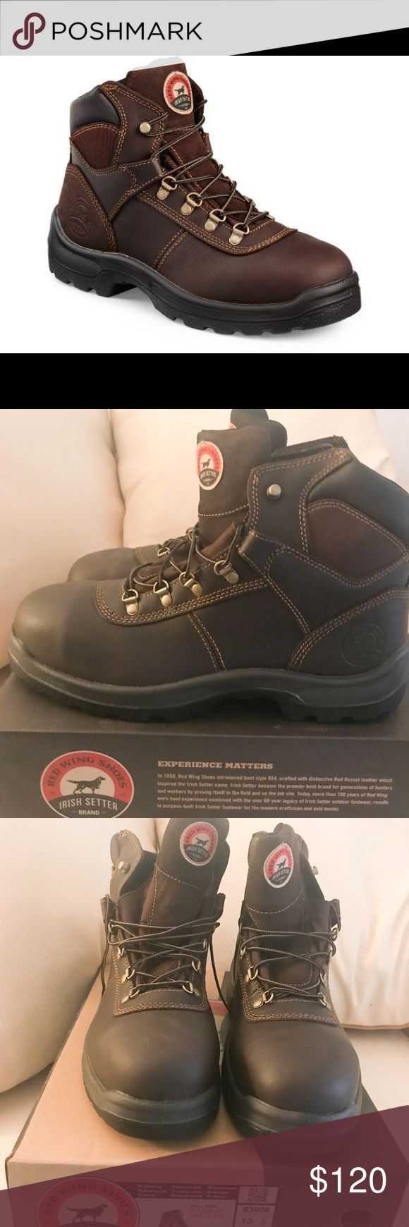🆕 Men's 6-inch Steel safety toe Leather Work boot Red wing Irish setter brand 🆕 Men's 6-inch Steel safety toe Leather Work boot. Brand NEW in box. Never been worn.   Full grain leather and direct attach sole Durable and all day comfort Irish Setter Shoes Boots
