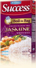 Success - Jasmine Rice - Success® ... the 10 minute, no mess, no measure, boil-in-bag rice. - Love this instant sticky rice! So much better than just the basic.