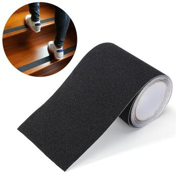 Cnim Hot 5mx15cm Waterproof Anti Slip Tape Stickers For Stairs Floor Bathroom Kitchen Decking Strips Black Pvc