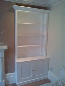 Fully Fitted Alcove Dresser Bookcase Tv CabinetsAlcoveBookcaseDresserDining Room