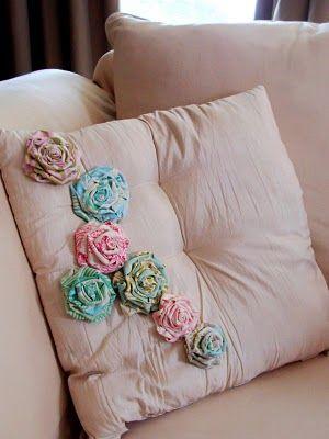Shabby fabric roses