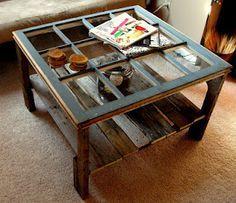 Que mesa de centro mais charmosa.