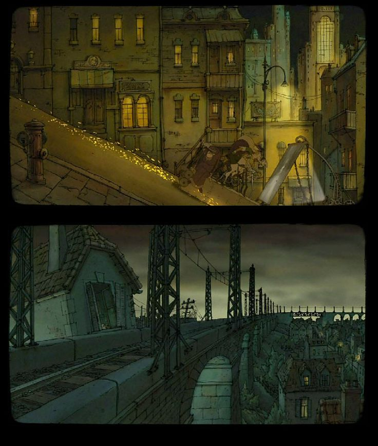 "Artes da produção de ""As Bicicletas de Belleville"" 