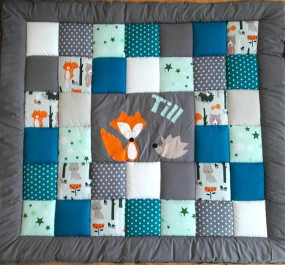 Stoffpaket Patchwork Set DIY 5 x 30 x 50 cm Igel nähen Baumwolle Handarbeit