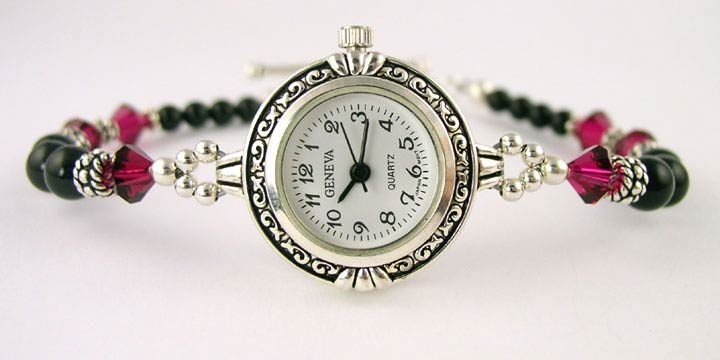 beaded watches in gold   Beaded Watches Ladies Womens Crystal, Pearl, Wrist Watch Jewelry Bands