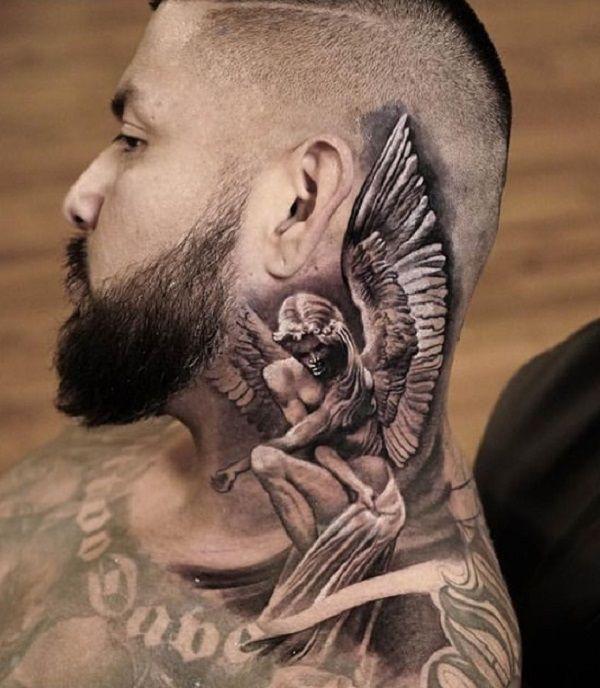 60 Holy Angel Tattoo Designs Cuded Neck Tattoo For Guys Full Neck Tattoos Best Neck Tattoos