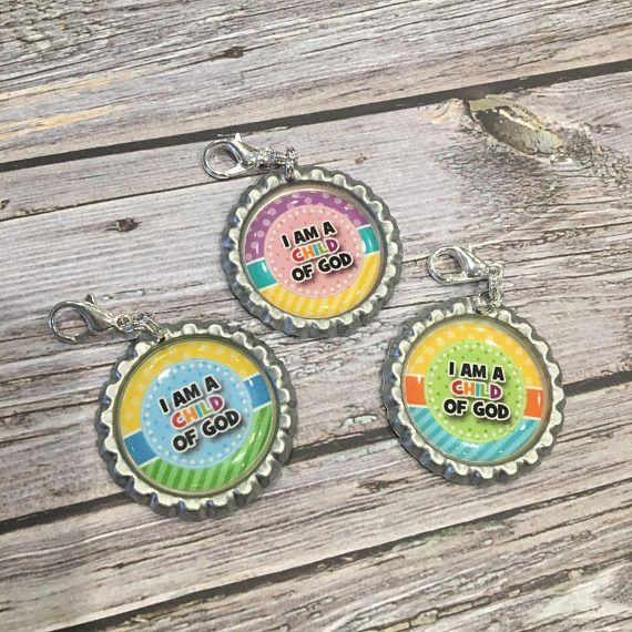 I am a CHILD of GOD Bottlecap Zipper Pull  I am a child of God Primary 2018 Theme LDS Primary 2018 LDS $1.50