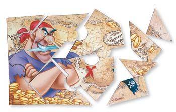 Ενώστε τα κομμάτια των τεσσάρων πάζλ που περιέχονται στη συσκευασία και ανακαλύψτε τον κόσμο των διάσημων Πειρατών της Disney., Disney Pirates - Παιδικό Πάρτυ για Αγόρια - Είδη Πάρτυ,  ,