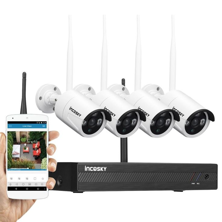 4CH 1080P NVR CCTV Indoor Outdoor Wireless Home Security Camera System IR Vision #incoSKY