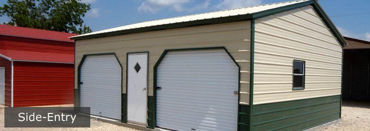 Carolina Carports - Side Entry Garage - Visit www.carolinacarportstx.com