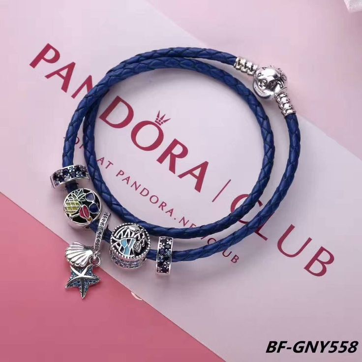 $76 Pandora leather bracelet with charms#pandora#leather#charmsbead#pandoracharmbracelet#european#charm#bracelet#silver#925#sterling#bangle
