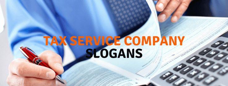 Tax Service Company Slogans