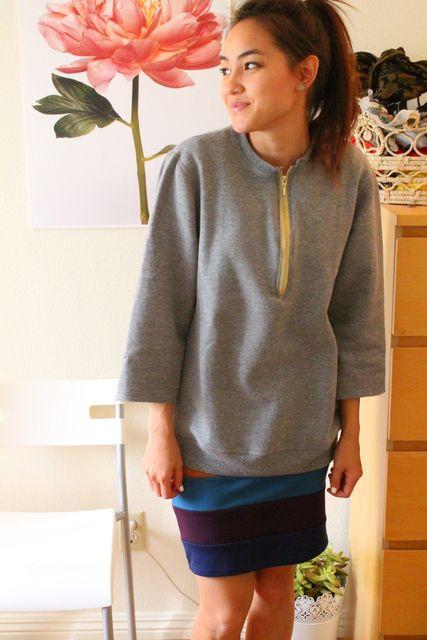 give your #sweatshirt a #makeover #foggydressblog