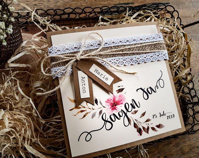 ACHT HOCHZEIT Boho Hochzeit Einladung Vintage | Einladungskarte | Hochzeitskarten | Hochzeitsapetry | Stärke Papier | Rosen | Aqua   – Meine hochzeit