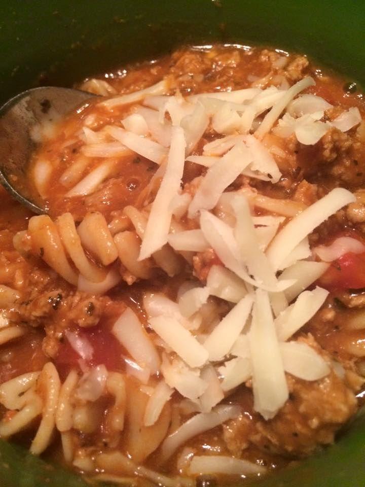 21 Day Fix friendly Lasagna Soup, compliments of Stephanie O'Dea! #fixfriendly #soup #lasagna