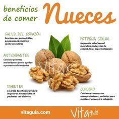 Beneficios para la #salud de las nueces. Un gran #alimento