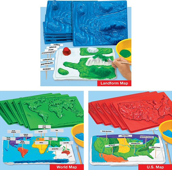 Make-Your-Own Landform Map Molding Kit Science Pinterest - land form