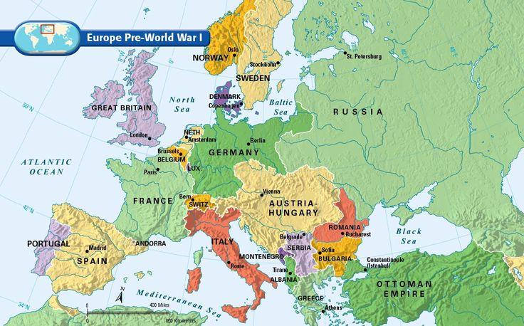 European political map before WW1 World War 1 Pinterest Europe World w