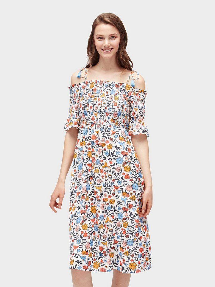 Tom Tailor Denim Sommerkleid Midikleid Mit Floralem Muster Online Kaufen Otto Massgeschneiderte Kleider Sommerkleid Kleider