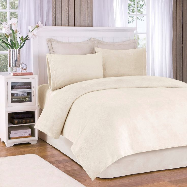Soloft Plush Sheet Set - Cream (Ivory) (Queen)
