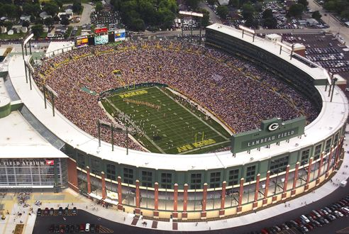 Lambeau Field, Home of the Green Bay Packers, Wisconsin
