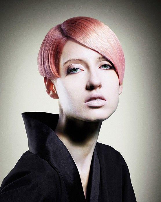 Short Blonde straight coloured womens haircut hairstyles for women