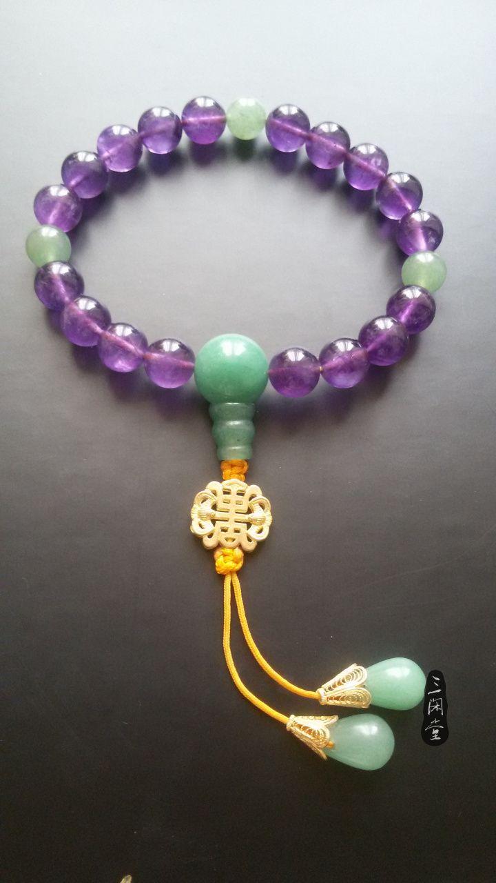 【幽谷】清宫十八子手钏 仿朝珠款式 紫水晶手钏-淘宝网