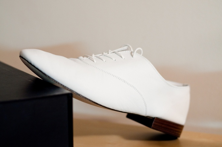 "The legendary white Repetto ""Zizi Homme"" shoes, worn by Serge Gainsbourgh"