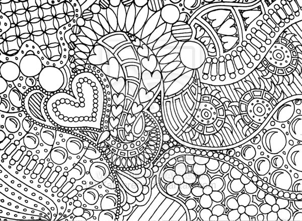 Zen Coloring Pages Pdf : Bubbles zendoodle lineart by katahrens d lq r
