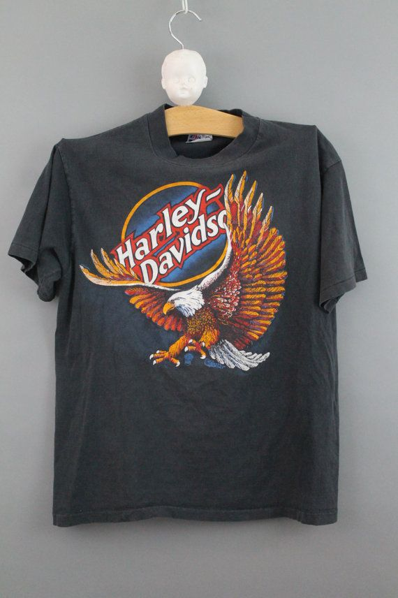 Harley Davidson Vintage tshirt faded worn by CatApolinarVintage