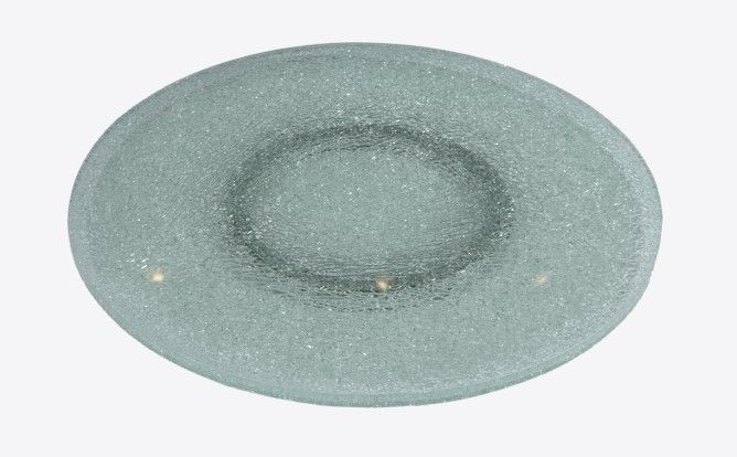 Buy Chintaly Imports 24 Inch Round Clear Crackled Glass Lazy Susan on sale online