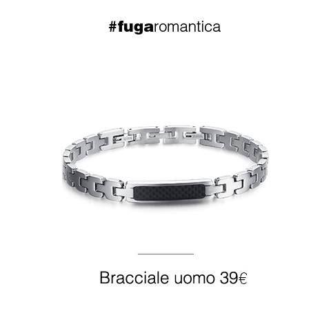 Bracciale in acciaio con piastra centrale in fibra di carbonio Luca Barra Gioielli. #braciale #collezioneuomo #lucabarragioielli #trend #style #fashion #tendenzemodauomo #pe2015