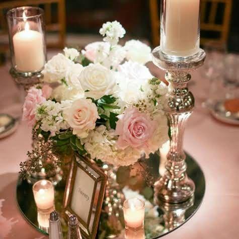 Romantic Rose Centerpieces | Bridal Shower Ideas | Vintage ...