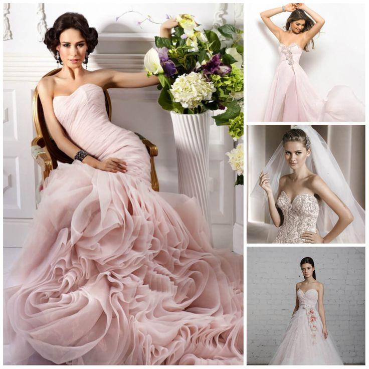 пастельно розовые свадебные платья