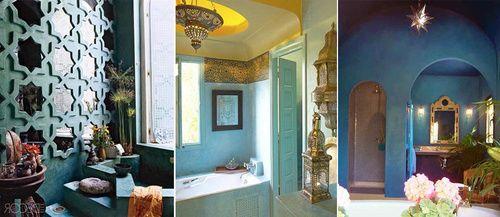 Марокканский стиль в интерьере ванной комнаты – фото идеи