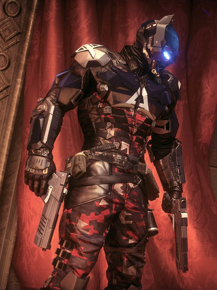 I love the design of the Arkham Knight's armor. The helmet especially is just incredible looking.