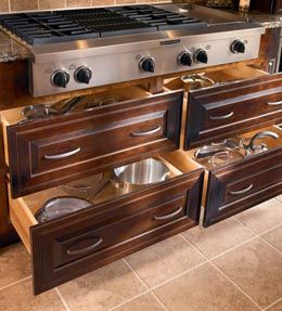 Kitchen Drawers For Pots And Pans 18 best top kitchen storage cabinets images on pinterest | kitchen