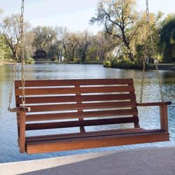Hampton Porch Swing Bench (oiled $229, white $279)