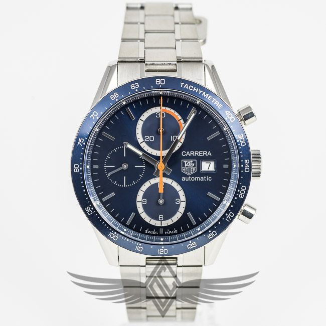 #TagHeuer #Carrera Chronograph 42mm Blue Dial Watch CV2015.BA0786 #OCWatchCompany #WatchStore #WalnutCreek