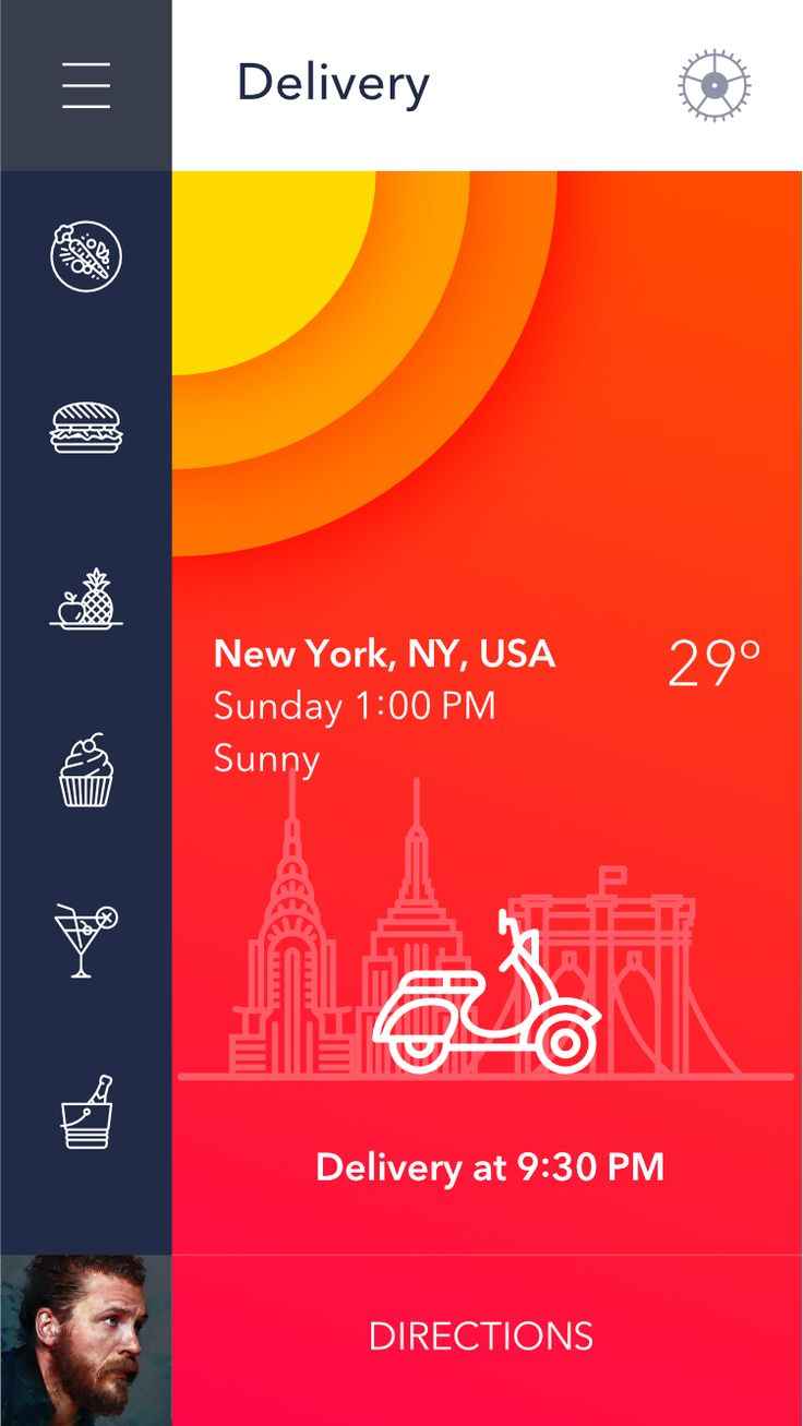 Restaurant delivery app mobile