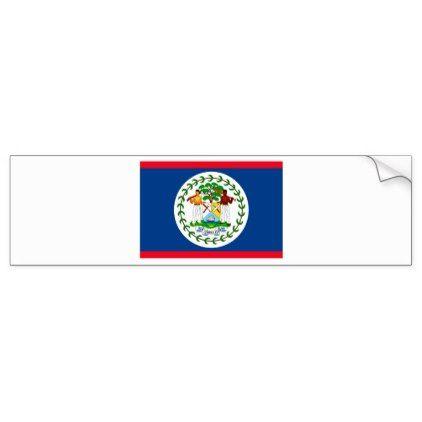 Belize flag bumper sticker - sticker stickers custom unique cool diy