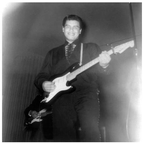 Ritchie Valens Location: The Kato Ballroom Mankato Minnesota January 25 1959 During the Winter Dance Party Tour.