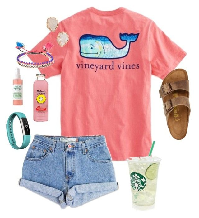 """I have to wake up at THREE AM tomorrow"" by zoejm ❤ liked on Polyvore featuring Levi's, Kendra Scott, Isabel Marant, Fitbit and Birkenstock"
