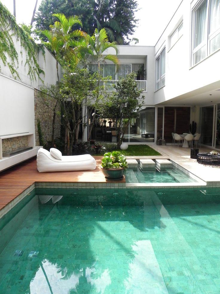 Catê Poli Paisagismo - Caterina Poli - Jardim Garden Landscape Piscina Pool Spa Lareira à gás Outdoor Fireplace Deck Pedra Bali Palimanan Contemporâneo Contemporary Modern