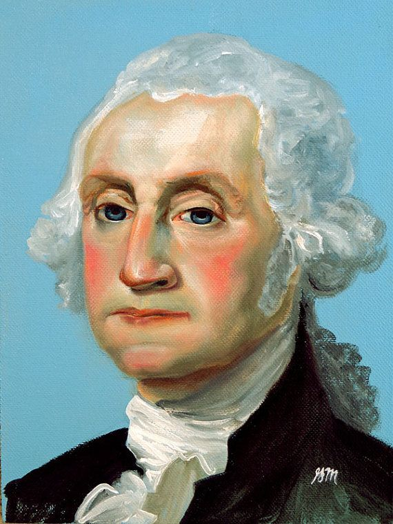 George Washington  original oil painting by by GretchenMattaStudio, sold