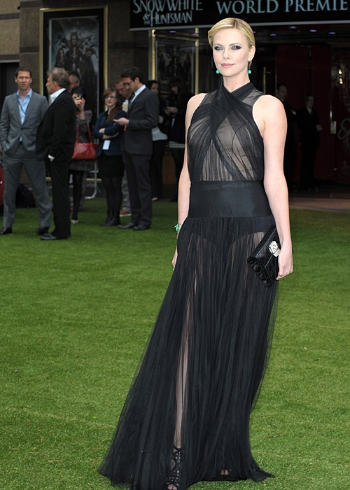 Charlize Theron at the London premiere of Snow White and the Huntsman