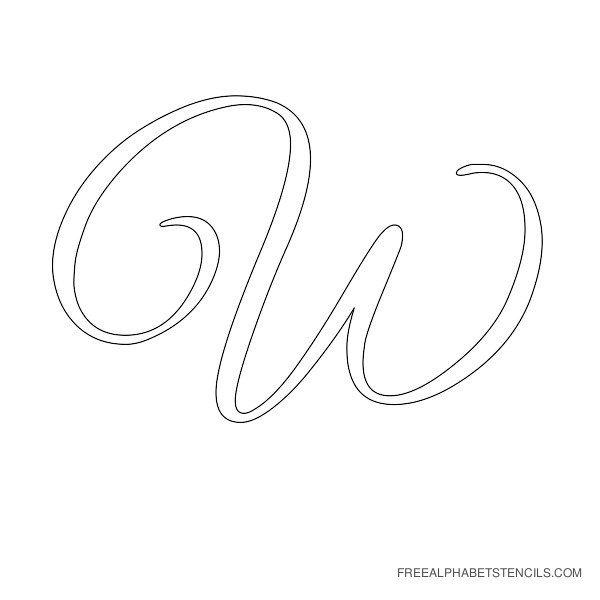 Elegant Cursive Alphabet Stencils in Printable Format | Free Printable Stencils Com