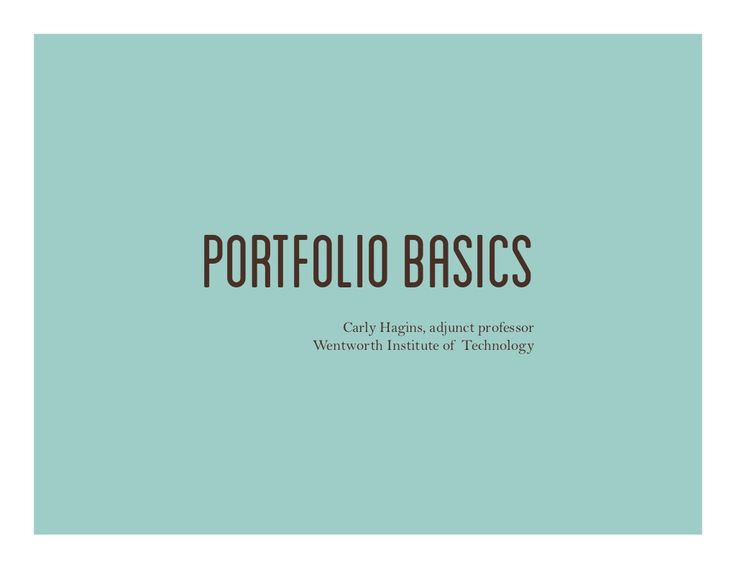 Industrial Design Portfolio Basics