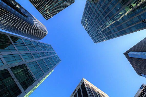 @InShoesOfM: Blue Skyscraper Photography City Photograpy Vancouver