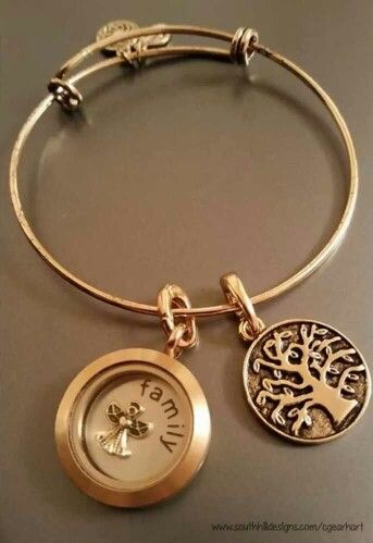 Our new Bangle bracelet...adding a locket to create your own unique look! www.southhilldesigns.com/cgearhart